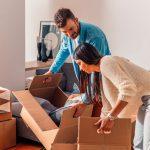 reducir el número de cajas en una mudanza